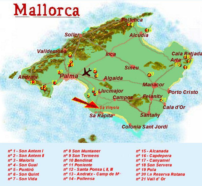 Mallorca Karte Alcudia.Mallorca Ferienwohnung Info Golfplatz Alcanada